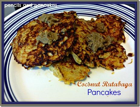 Paleo Coconut Rutabaga Pancakes