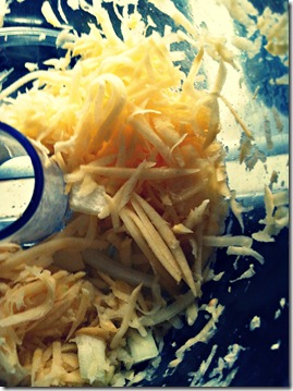 Shredded rutabaga