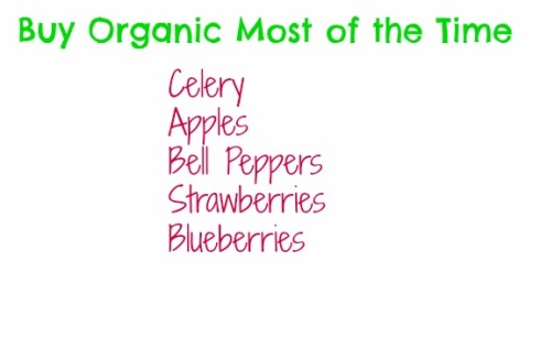 buy organic most of the time